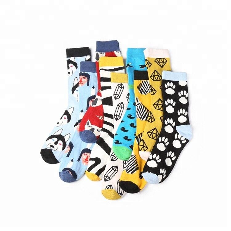 Высококачественные спортивные стильные японские Мультяшные мужские носки оптом