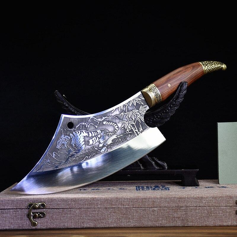 سكين تقطيع للمنزل مصنوع يدويًا على شكل شبح مصنوع يدويًا سكين مطبخ على شكل قوس الشيف أدوات اكسسوارات المطبخ