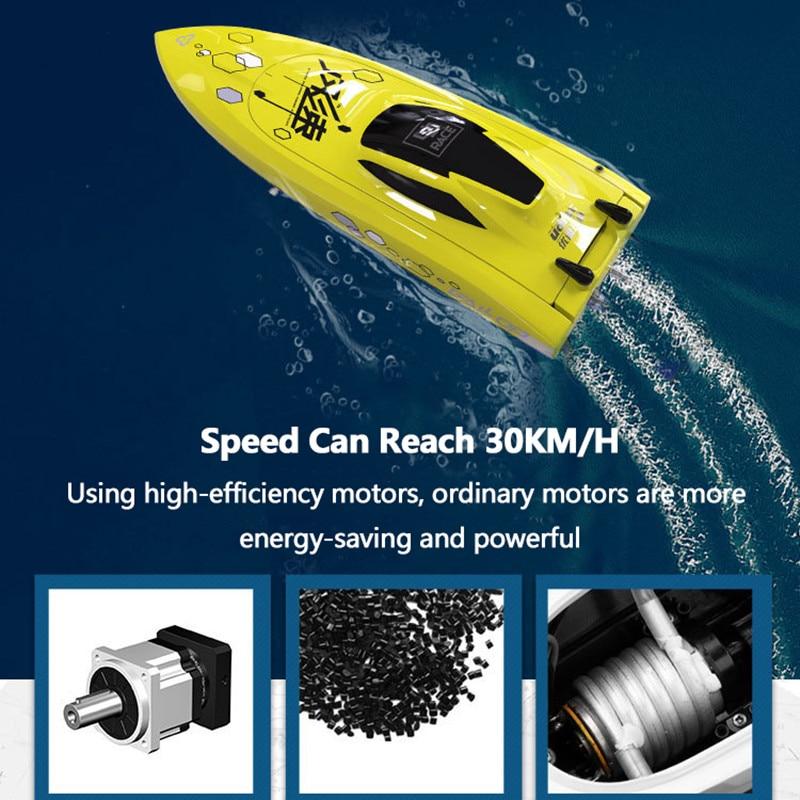 Parkten 2019 new RC Boatu UDI001upd UDI008 2.4G 4CH Remote Control RC Boat Speedboat children's toy water speed boat summer toys enlarge
