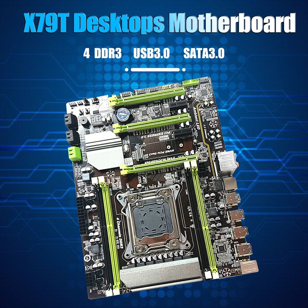 X79T LGA 2011 CPU اللوحة USB3.0 M.2 SATA 4 DDR3 اللوحة الرئيسية للكمبيوتر حاسوب شخصي مكتبي ل Core i7/Xeon Server 2011