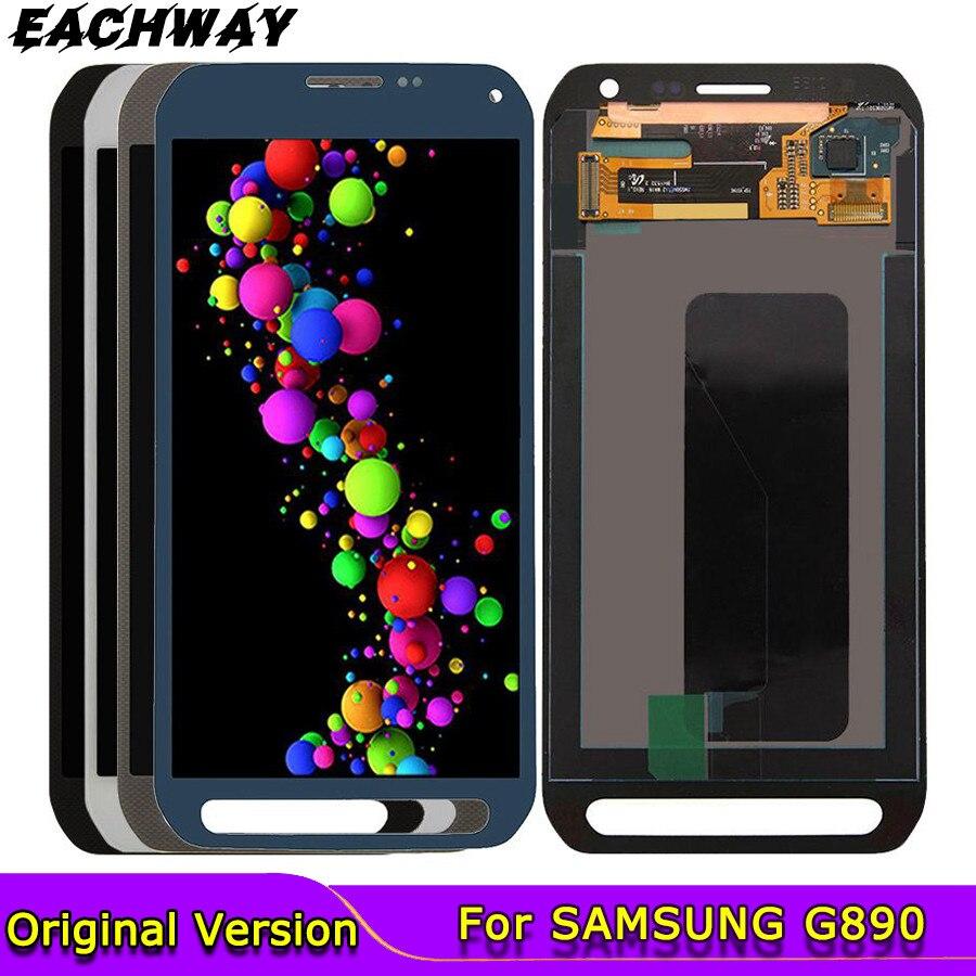 5,1 pulgadas para SAMSUNG GALAXY S6 LCD activo G890 G890A SM-G890 pantalla táctil digitalizador montaje reemplazo para SAMSUNG G890 LCD