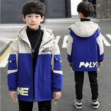 Kids Winter Jacket Children's Outerwear Thicken Hooded Plus Velvet Warm Windproof  Winter Jacket For Boy