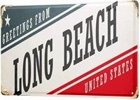 since 2004 tin sign wanderlust city long beach usa