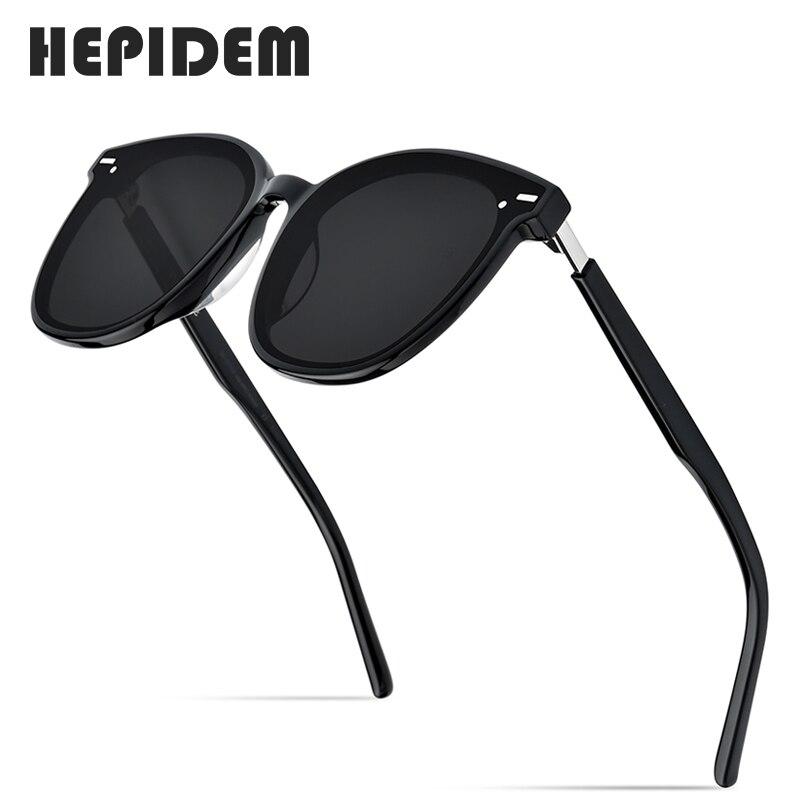 HEPIDEM-نظارات شمسية مستديرة من الأسيتات للرجال والنساء ، نظارات شمسية ريترو مع عدسات عاكسة UV400 ، مجموعة جديدة لعام 2020