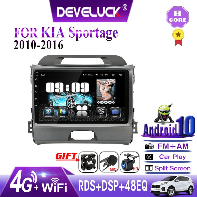 Android 10,0 2 din Auto Radio Multimedia Video Player Für KIA Sportage 3 2010 2011-2016 GPS navigation RDS DSP + 48EQ IPS autoradio