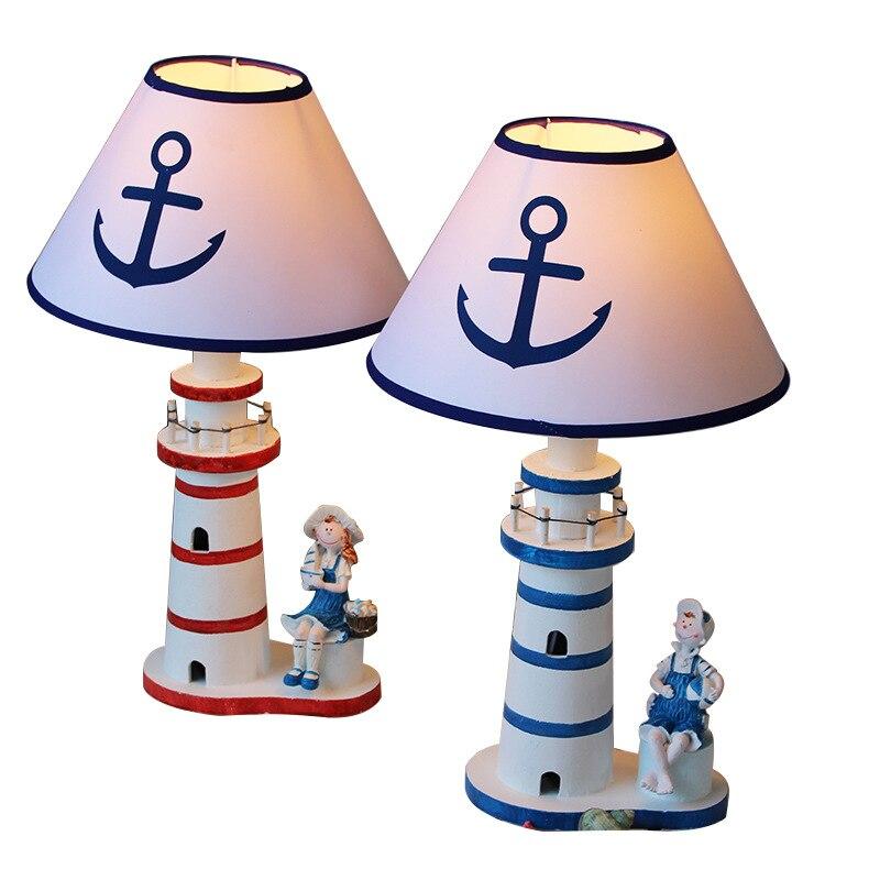 Lámpara de mesa de estilo mediterráneo, luz de escritorio creativa, decoración del...
