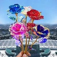 25  5pc Artificiel Lumiere Led Fleur Colore Lumineux Rose Cadeau Unique Pour Les Filles Vintage Ornement Pour La Decoration De La Maison