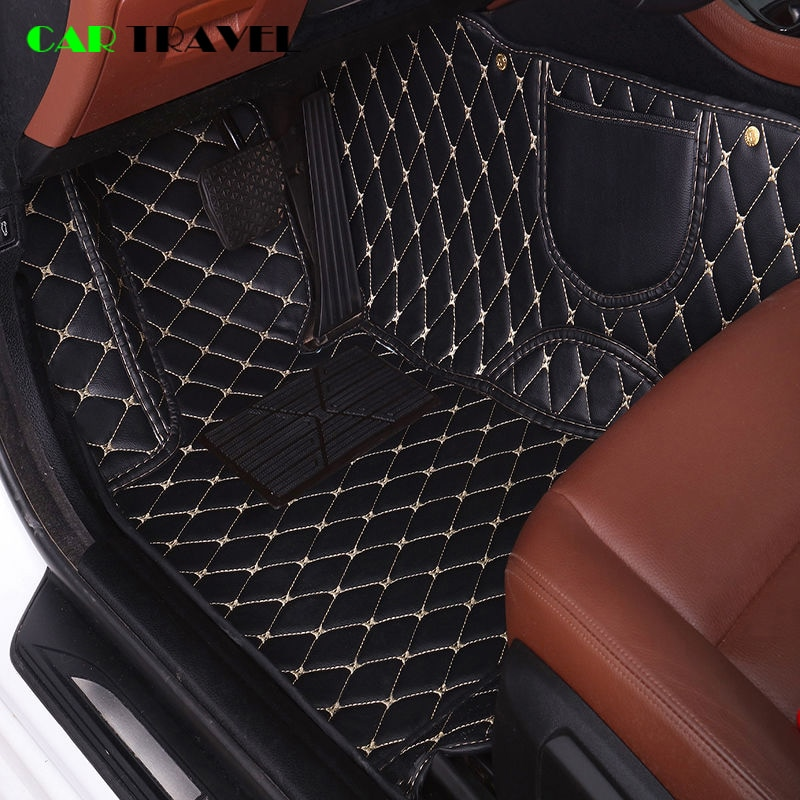 Alfombra de cuero personalizada para el suelo del coche para nissan qashqai j10 x-trail t31 murano patrol y61 tiida teana coche impermeable accesorios
