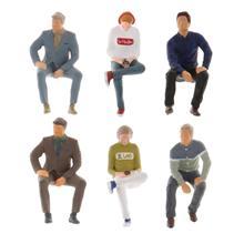Figure de Position assise de personnages de modèle déchelle 164, disposition de personnes de PVC, modèle de Diorama de paysage, pour des Accs de groupe de jouet