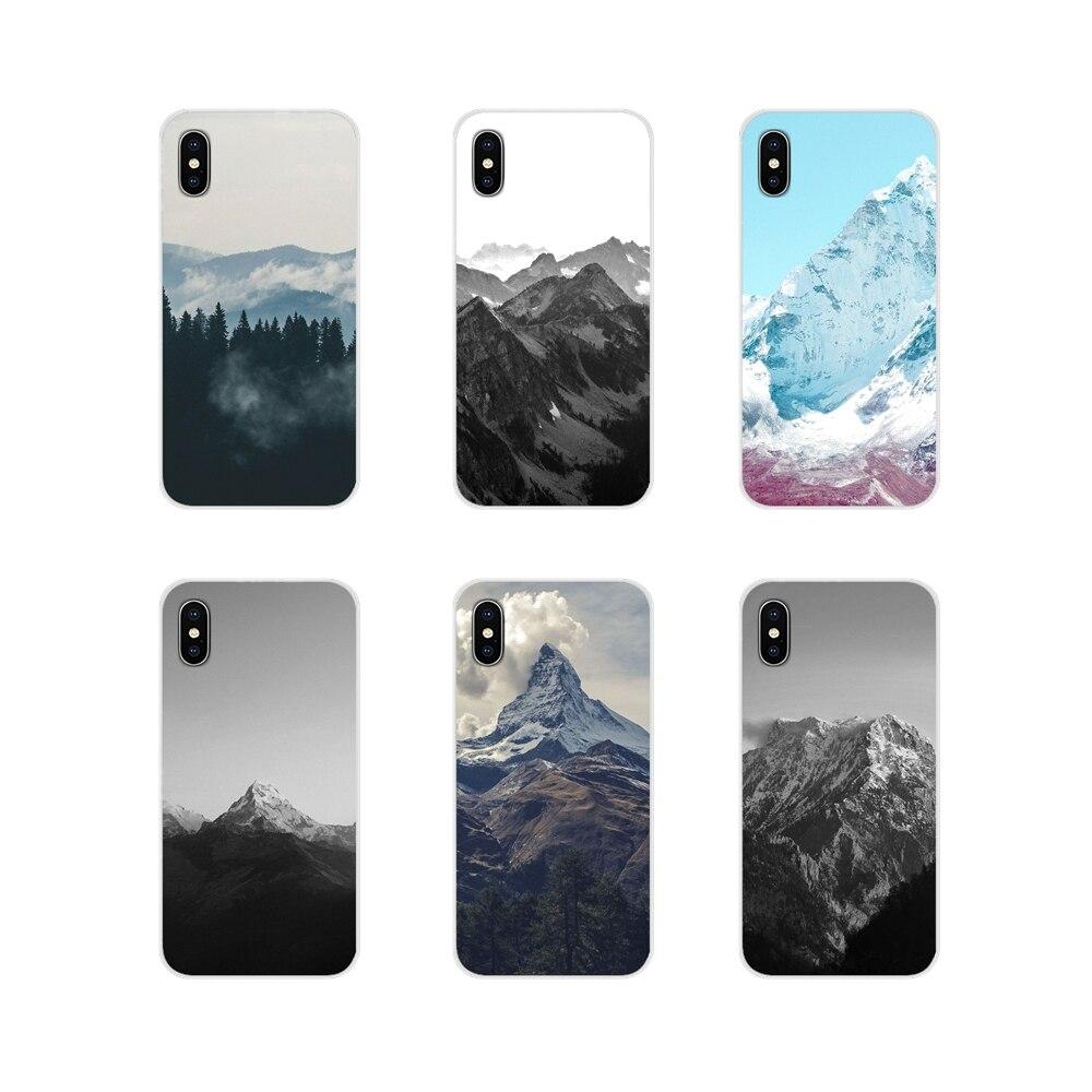 Accesorios del teléfono para Samsung A10 A30 A40 A50 A60 A70 M30 Galaxy nota 2 3 4 5 8 9 10 PLUS el pico de la montaña bosque