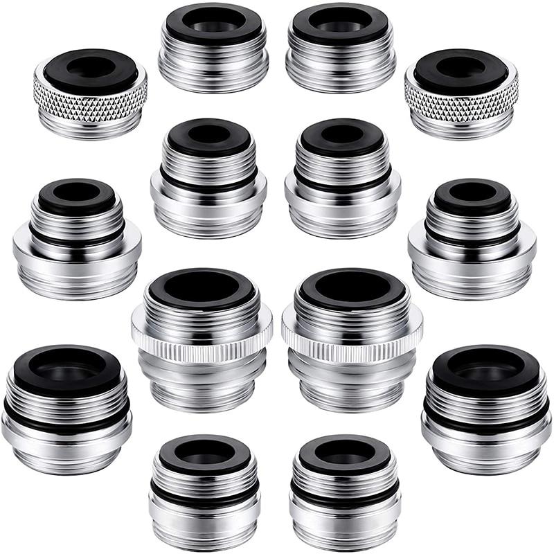 Комплект адаптеров для крана 14 адаптеров разных размеров адаптер для раковины крана Соединительный садовый шланг фильтр для воды стандарт...