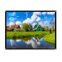 projector screen 150inch 43 matte white projection screen for slides movies portable front projection hd screen