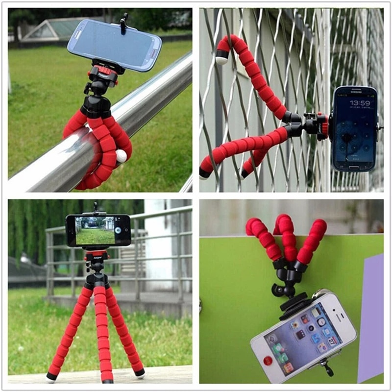 Mobile Phone Holder Flexible Octopus Tripod Bracket For Mobile Phone Camera selfie stand Monopod Support Photo Remote Control mobile phone holder flexible octopus tripod bracket for mobile phone camera selfie stand monopod support photo remote control