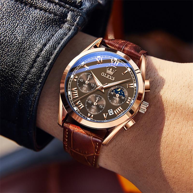 Relogio Masculino 2021 Top Brand Luxury Men's Watch Moon Phase Waterproof Date Clock Male Sports Wat