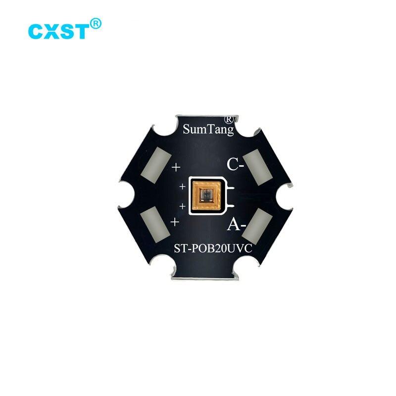 5 Stks/partij Uvc Led Lamp Kralen Voor Uv Desinfectie Apparatuur 265-285nm Smd Chip Led Deep Violet Ultraviolet Lichten Uva + uvc/Uvc