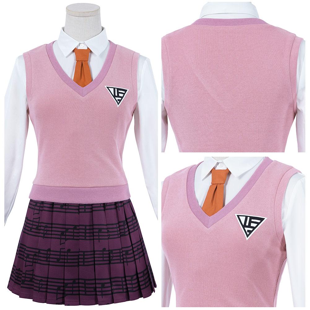 Danganronpa v3 killing harmony-akamatsu kaede cosplay trajes uniformes saia roupas halloween carnaval terno