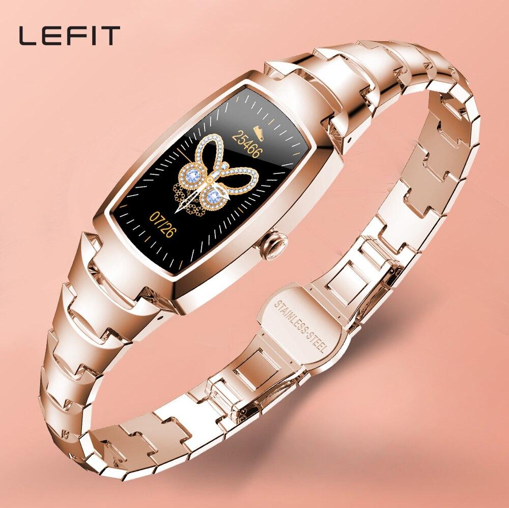 Lefit-ساعة رياضية متصلة للنساء ، مع مراقبة معدل ضربات القلب والنوم والسعرات الحرارية ، لنظامي Android و IOS
