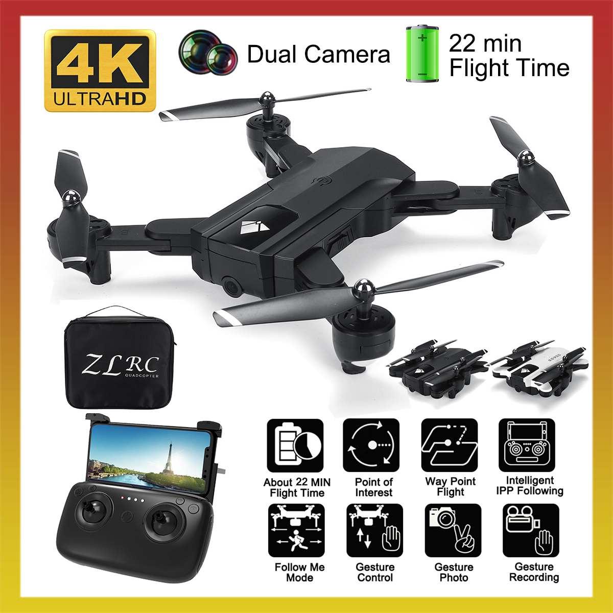 SG900 Wifi RC Drone 4K HD 1080P Cámara Dual drone GPS Me sigue giroscopio FPV Drone profesional larga vida de batería drones