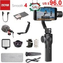 Zhiyun pürüzsüz 4 3-Axis el Smartphone Gimbal sabitleyici iPhone 11 Pro XS XR X 8 artı 8 samsung S10 S9 S8 ve eylem kamera