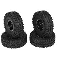 4pcs 108mm120mm 1 9 rubber tires metal beadlock wheel rims for 110 rc rock crawler car axial scx10 90046 trx 4 s289