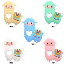 1Pc Silikon Alpaka Baby Beißring Schafe Baby Zahnen Spielzeug Kauen Tier Alpaka Form Baby Pflege Molaren Beißring