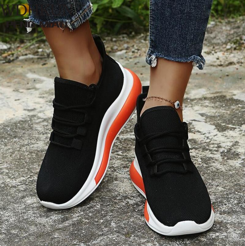 Chunky Sneakers Women Spring White Shoes Platform Wedges Shoes 2021 Comfortable Mesh Casual Sport Sh