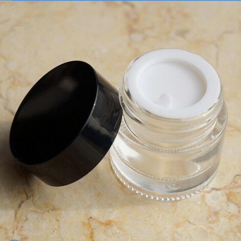 Recipiente de vidrio vacío de 5g con tapa de aluminio, almacenamiento de vidrio cosmético recargable de viaje, Mini frasco transparente médico, botella de vidrio portátil