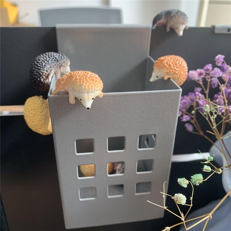 3 uds cápsula Japón juguetes Mini erizo modelo figuras lindas mascotas Gashapon escritorio niños juguete 634F