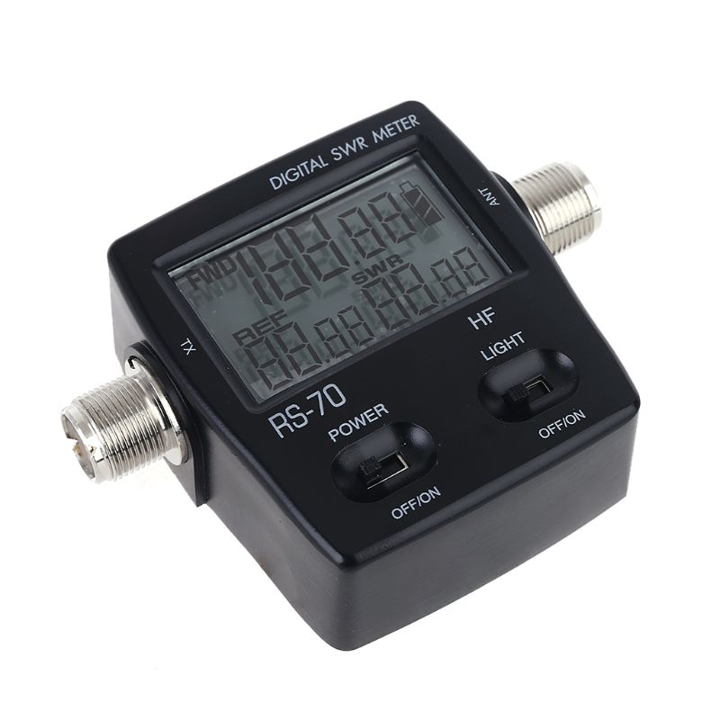 NISSEI RS-70 Digital SWR Power Meter Counter Micro USB-DC 5V Output 1.6-60MHz