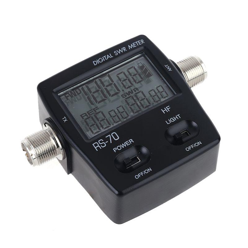 NISSEI RS-70 Digitale SWR Power Meter Zähler Micro USB-DC 5V Ausgang 1,6-60MHz