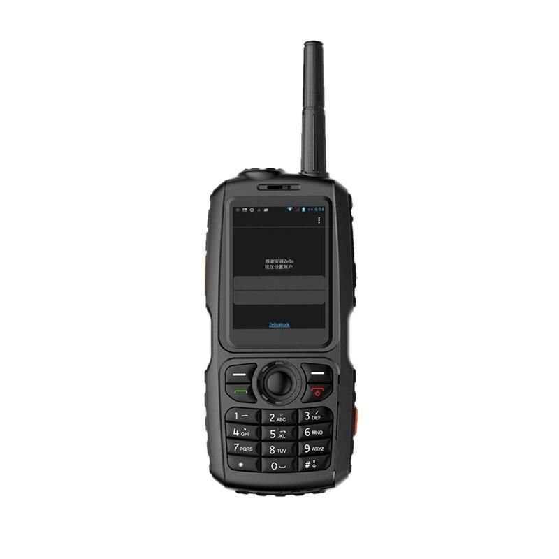 A18 IP68 impermeable GPS WCDMA GSM teléfono inteligente de doble tarjeta teléfono móvil UHF 400-470 PTT Walkie Talkie teléfono 3800MAh Pantalla de prensa US u