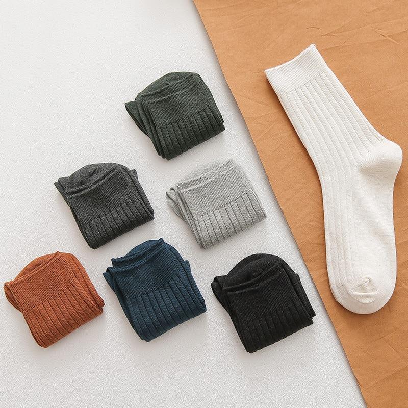 Anewmorn, 5 пар, повседневные хлопковые мужские носки, уличные, стильные, красивые, Sokken, двухцилиндровые, одноцветные, Базовые носки