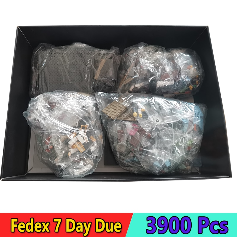 DHL سلسلة أفلام كبيرة اللبنات النينجا مدينة دوكس متوافق 70657 3900 قطعة الطوب مع LED مجموعات اللعب الهدايا