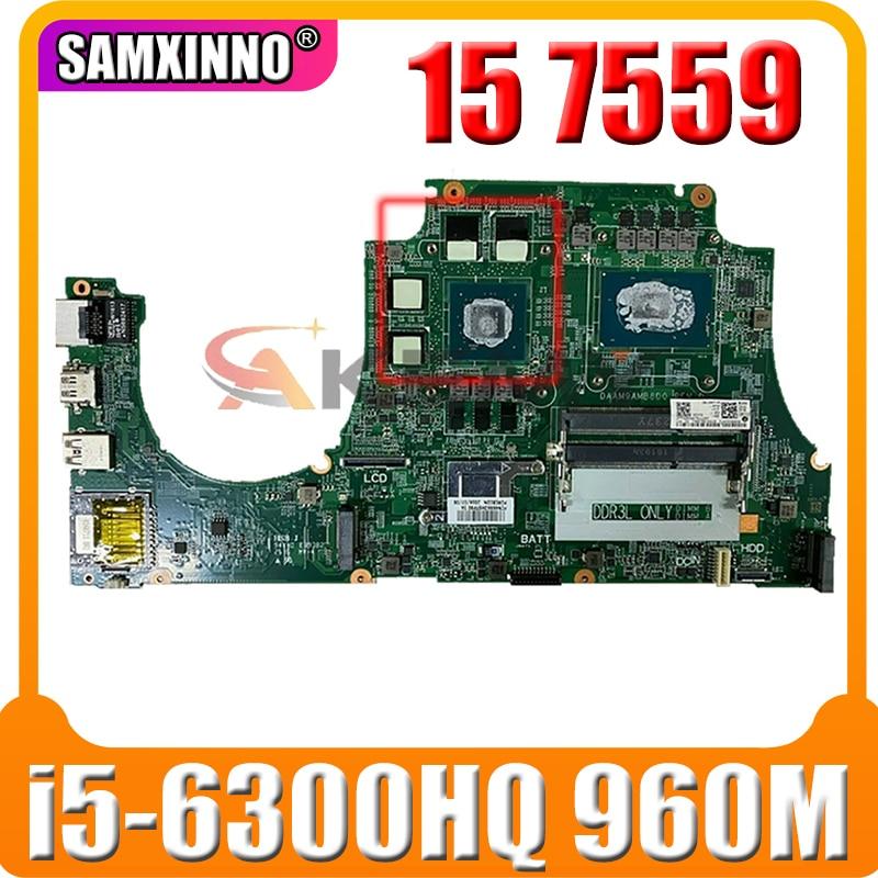 100% العمل 0NXYWD CN-0NXYWD لأجهزة الكمبيوتر المحمول ديل انسبايرون 15 7559 اللوحة الأم DAAM9AMB8D0 اللوحة الرئيسية مع وحدة المعالجة المركزية i5-6300HQ + 960 متر وحدة...