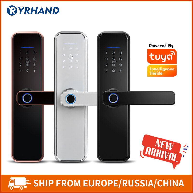 cerradura intellige x5 a prova dtuagua tuya biometrico de impressao digital seguranca