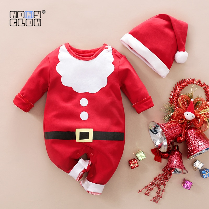 Baby Clothes Newborn Girl Outfit Baby Boy Clothes Set Newborn Baby Girl Clothes Christmas Romper Toddler Girl Winter Clothes недорого