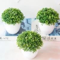 Bonsai artificiel en plastique realiste  boule verte vive  pour mariage  Art  maison  decorations officielles  deco de jardin