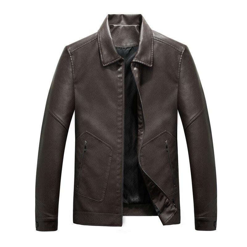 Mens Leather Jackets Spring Autumn Men's Casual Lapel Motorcycle PU Leather Jacket Coat Outerwear Male clothes jaqueta de couro
