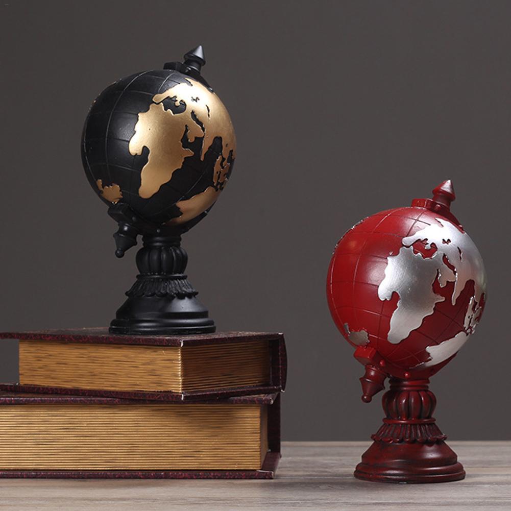 Decoración de globo Retro americano decoración de artesanía europea adornos de escritorio de oficina accesorios de muebles decoración del hogar