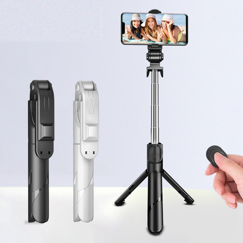 3 In 1 Wireless Bluetooth Selfie Stick Foldable Mini Tripod Expandable Monopod with Remote Control for Phone IOS Android