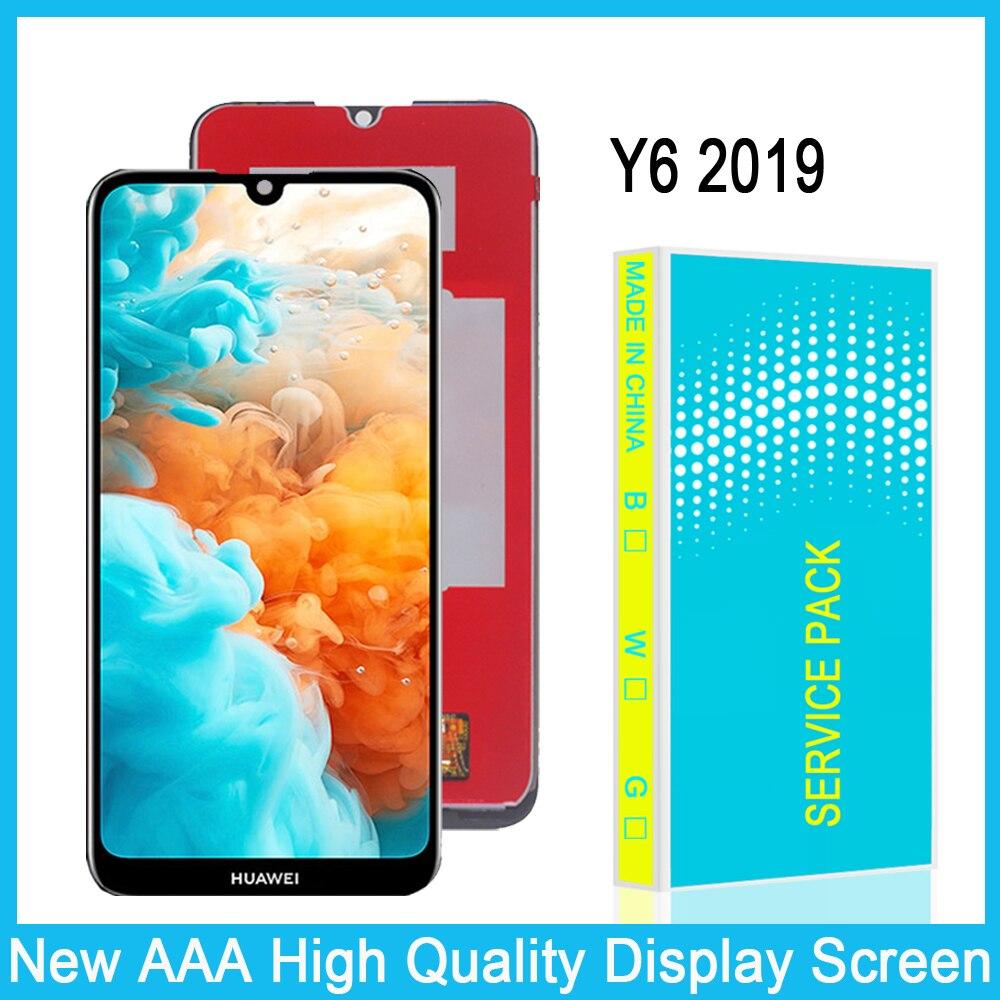 Display lcd para huawei y6 2019 lcd tela de toque digitador assembléia para huawei y6 pro 2019/y6 prime 2019 display substituição