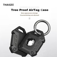 for apple airtag case armor protective case with keychain shockproof cover for apple tracker tpu anti lost device airtag case