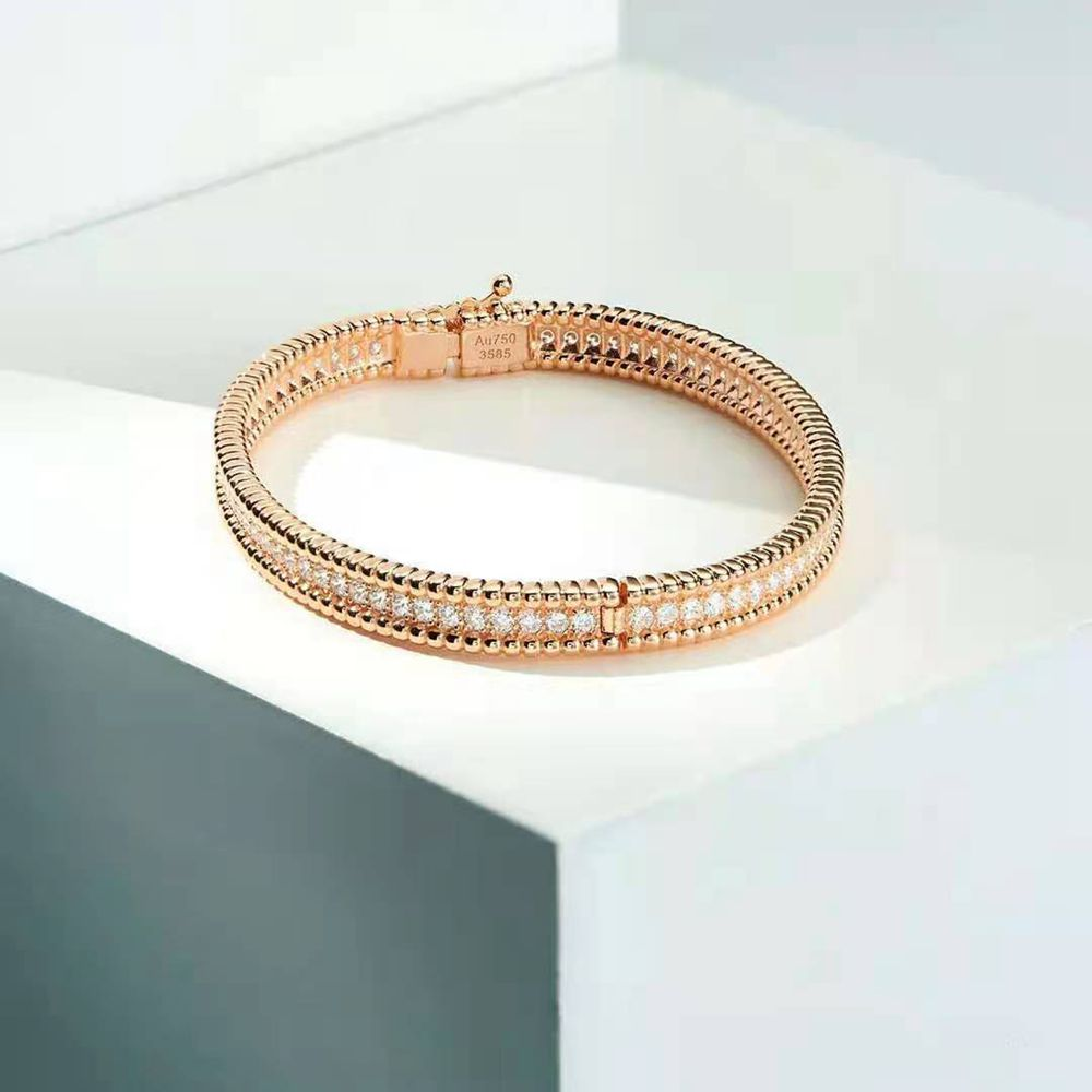 Wong Rain 100% 925 Sterling Silver Fashion Moissanite Diamonds Rose/White Gold Charm Bracelets Wedding Engagement Fine Jewelry
