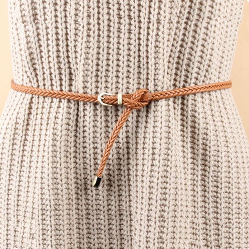 Новые модные женские обтягивающие тонкие узкие пояса с плетеной пряжкой и дизайнерским поясом, вечерние женские декоративные пояса