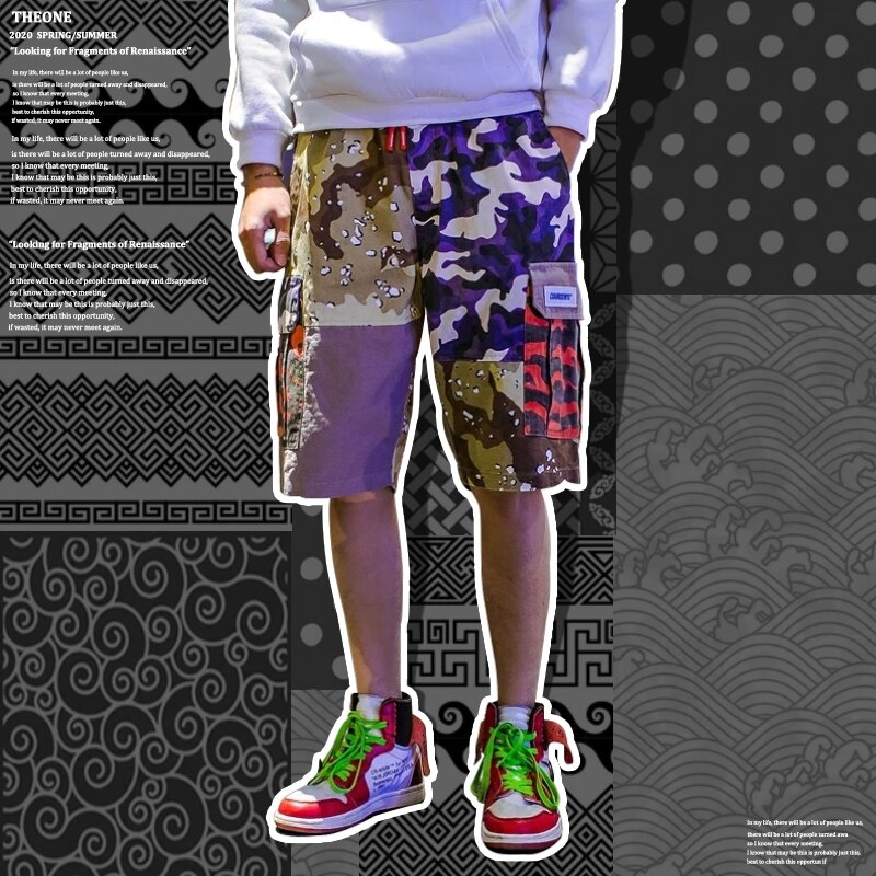 Fashion Sweat Shorts Men Casual Summer For Jogger Jogger Trend Printed Shorts Cargo Spodenki Meskie Harajuku Clothing BD50CS