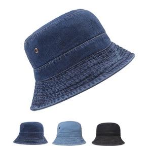 Denim fisherman hat Ladies summer pot hat Retro distressed sun hat Small pot hat Sun protection hat