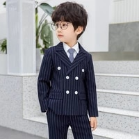 2021 flower boys japan style jacketpants 2pcs wedding suit kids formal clothing set children prom performance dress costume