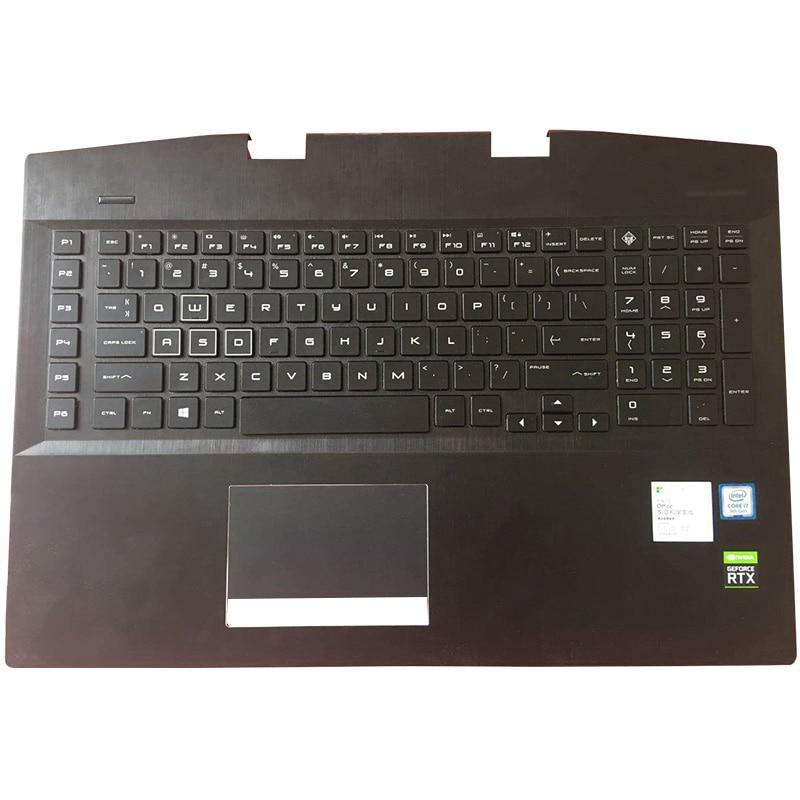 Laptop For HP OMEN 17-CB 17-cb0006ng AM2K0000310 AM2K0000320 Laptop Palmrest Upper Case US Backlit Keyboard