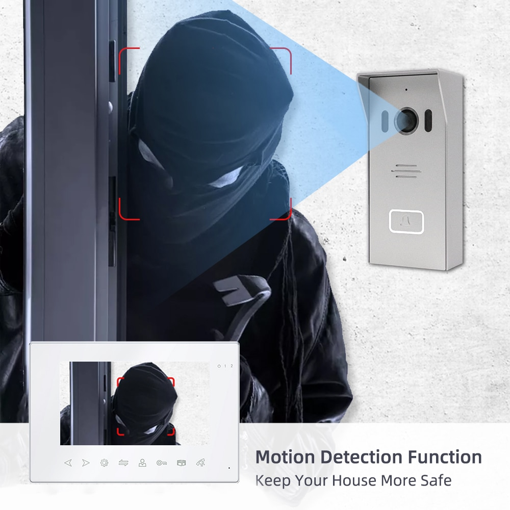 Joytimer Tuya WiFi Wired Video Intercom System For Home indoor Monitor Doorbell Intercom with a camera Motion Detection Record enlarge