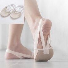 Half length rhythmic gymnastic shoes Gymnastics Shoes Soft Half Socks Ballroom Art Gym Accessories Ginastica Elastic Dance Shoes
